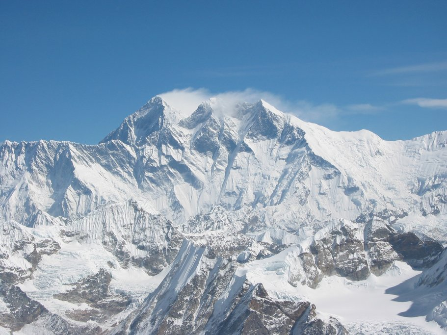 View of Mt Everest from the summit of Mera Peak