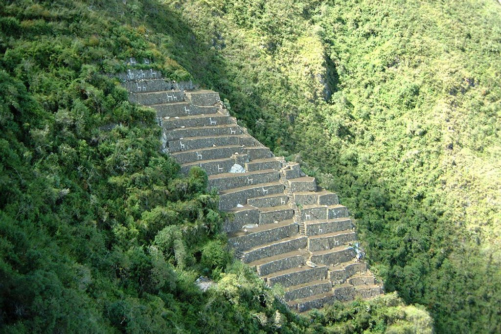 Terraces below Choquequirao