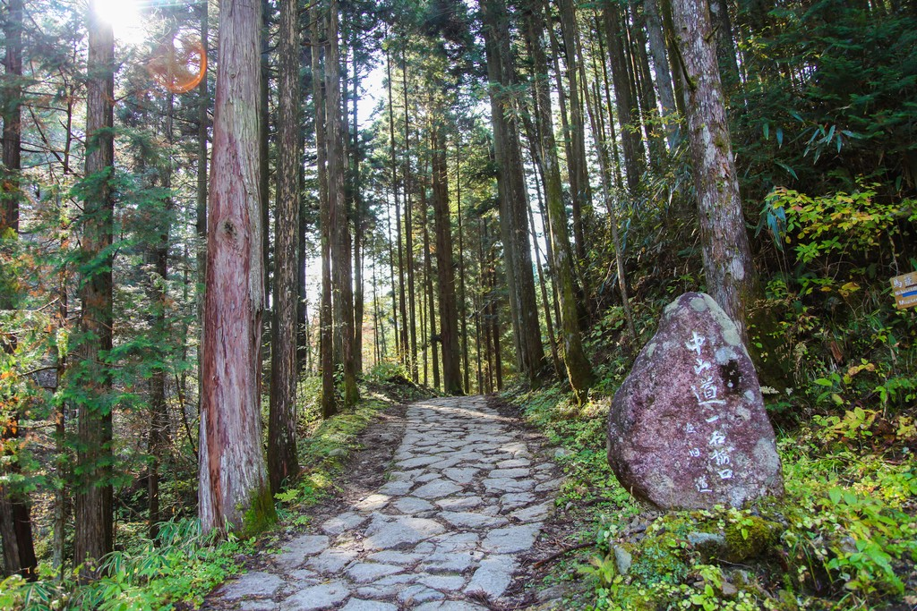 The gently rolling path of the Nakasendo Trail