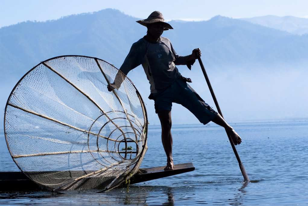 Inle Lake is home to many incredible people, including leg-rowing fishermen