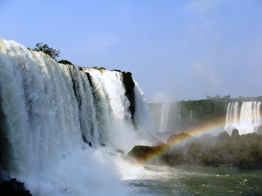 The magnificent Iguaçu Falls offer many views of the powerful water - including some with rainbows!