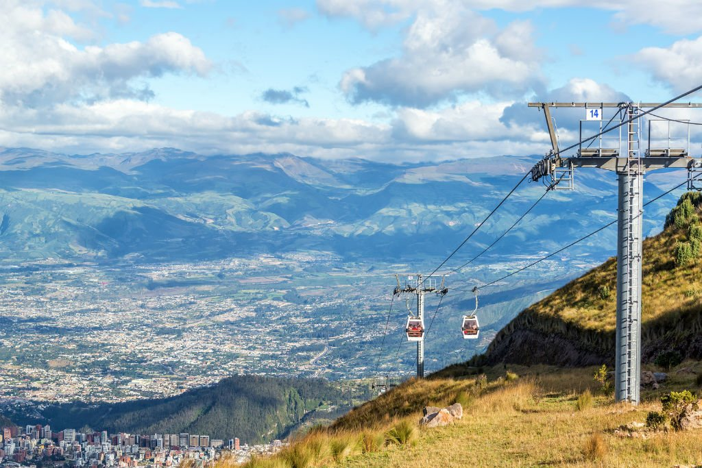 Cable car above Quito