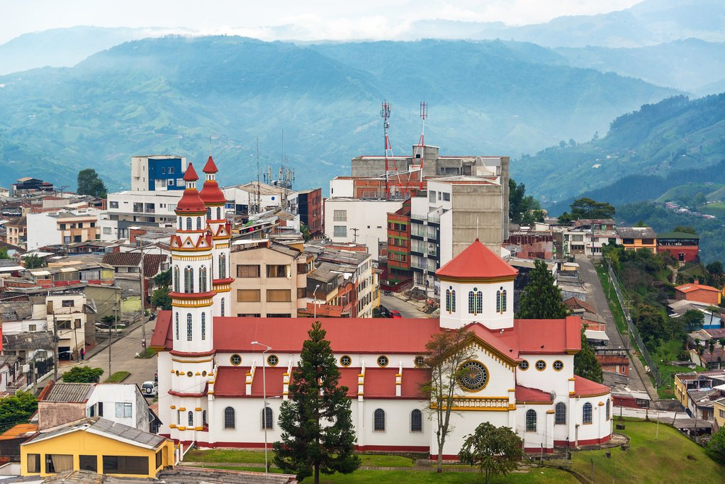 Our lady of the Rosary church in Manizales