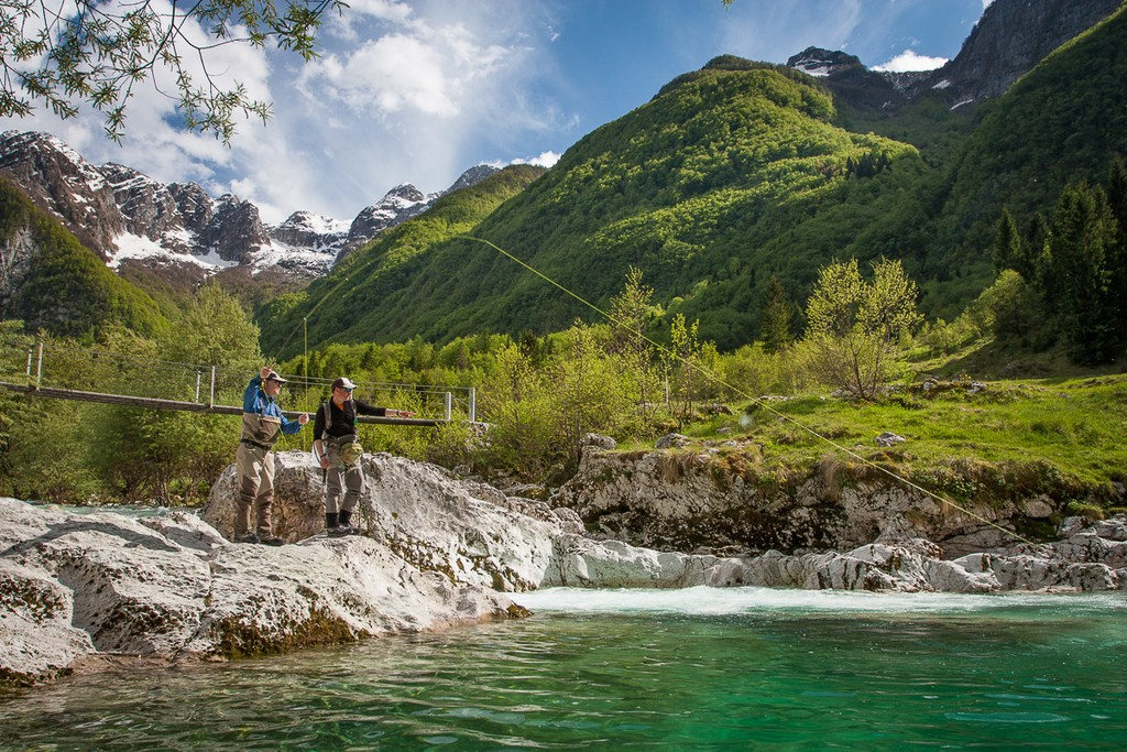The Soca River is famous for its marble trout