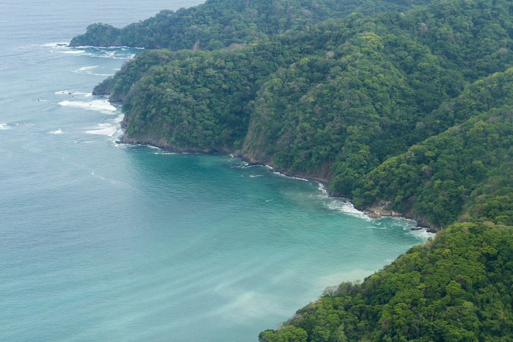 Aerial View of Nicoya Peninsula.