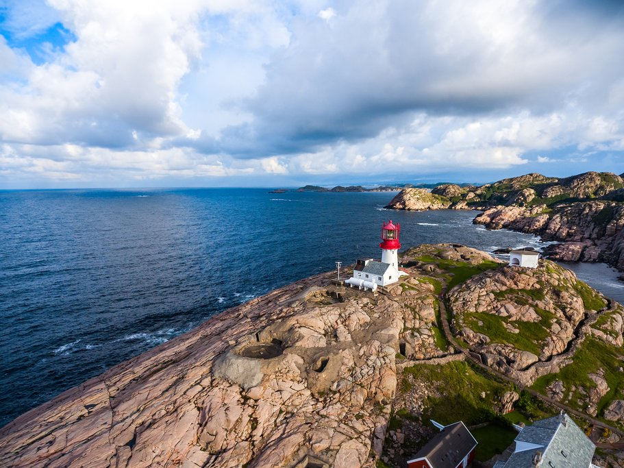 Lindesnes lighthouse in southern Norway