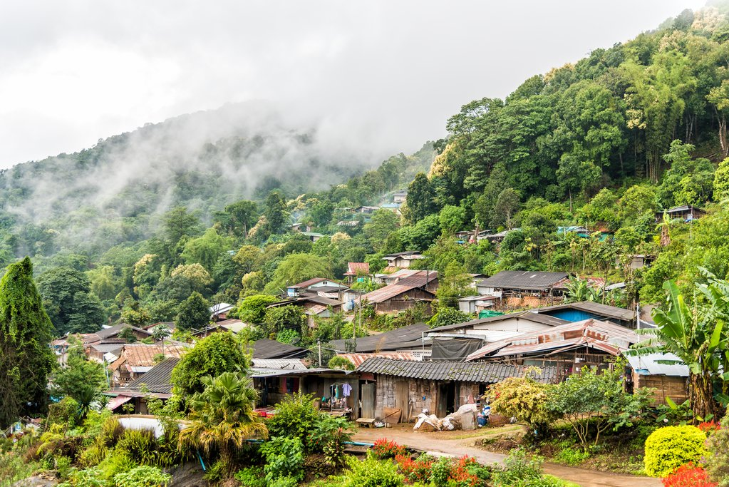 Hmong Village in Northern Thailand
