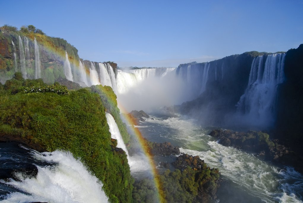 Iguazú Falls, one of the most impressive networks of waterfalls in the world