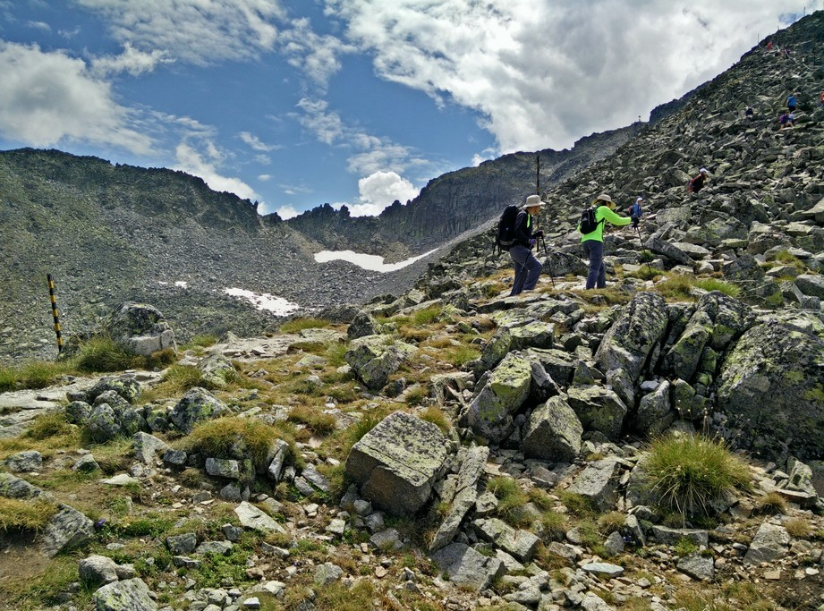 Hikers ascending Mt. Musala