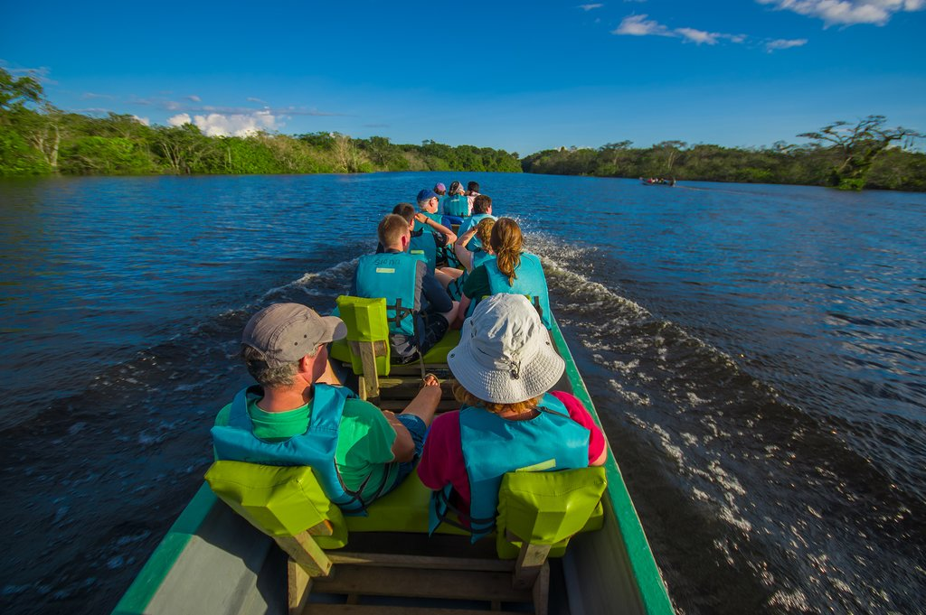 River voyage in the Ecuadorian Amazon