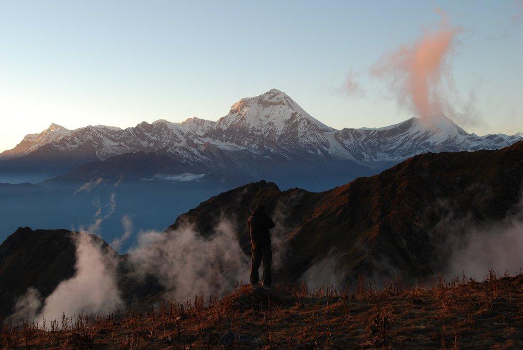 Trekking along the Khopra Danda ridgeline