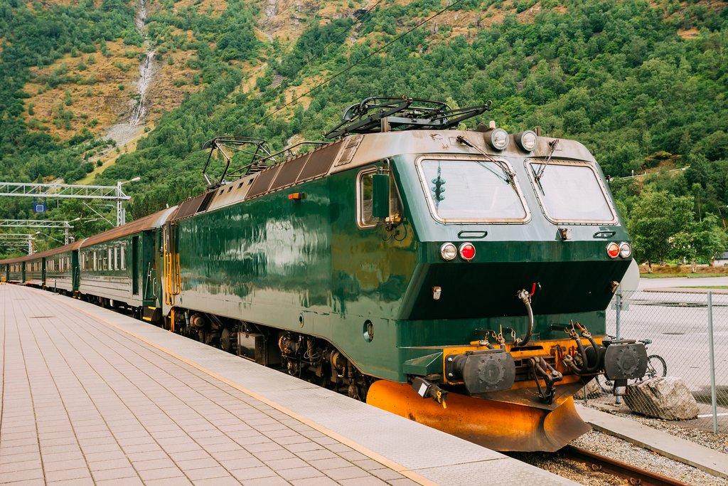 Catch a ride on the classic Flåm Railway.