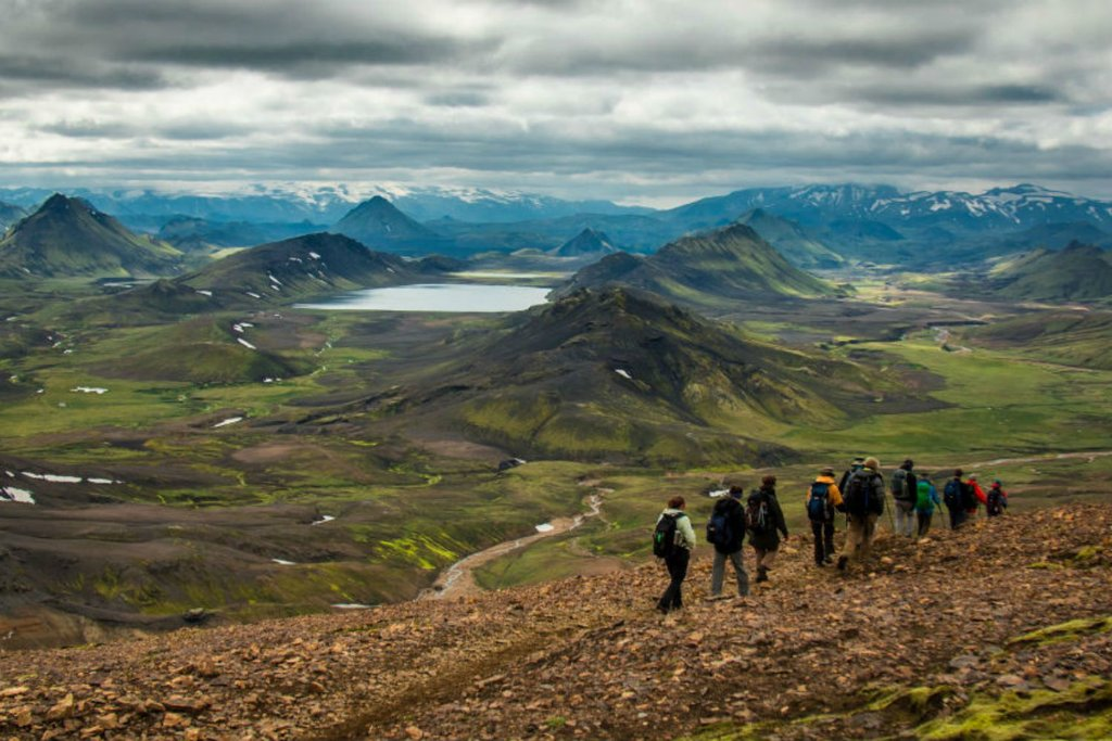 Your trek will take you along exposed ridges with views of the surrounding volcanoes