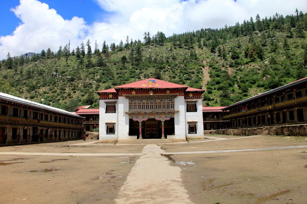 The Namkha Khyung Dzong Monastery is the biggest in the region and houses 130 monks, along with a school and a clinic