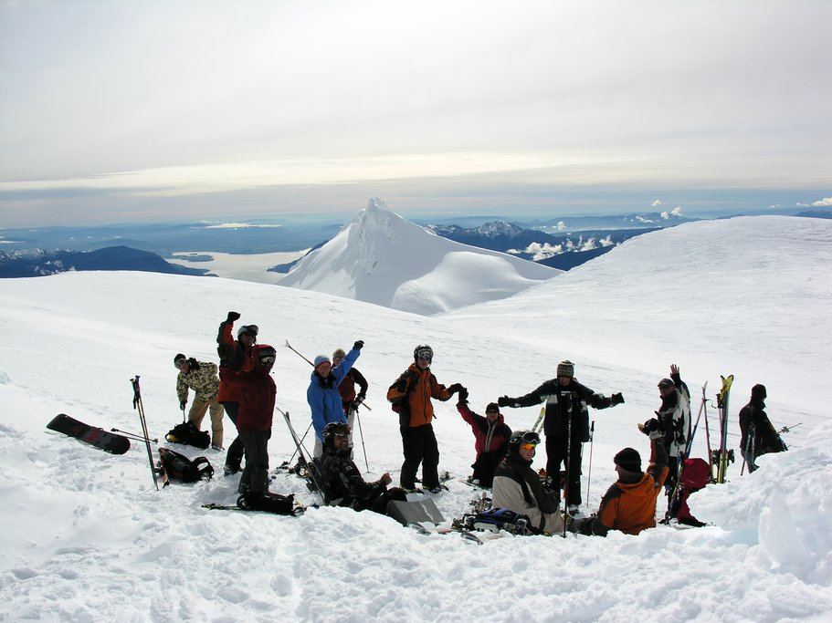 Skiing in groups through Chile's volcanic landscapes is unforgettable