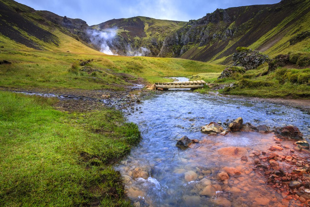 The hot, geothermal river inReykjadalur, not far from Reykjavik