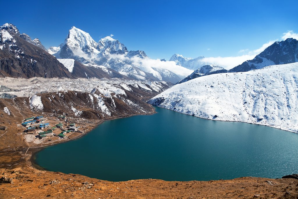 Village of Gokyo along Gokyo Lake