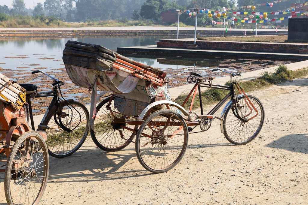 Bicycles near Lumbini
