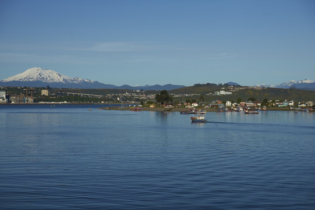 Waterfront views in Puerto Montt