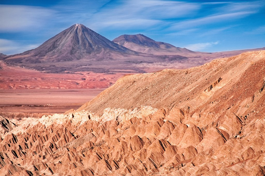 Dramatic rock formations of the Death Valley