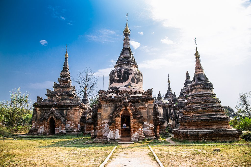 Historic monuments in Ava, one of Myanmar's former royal capitals