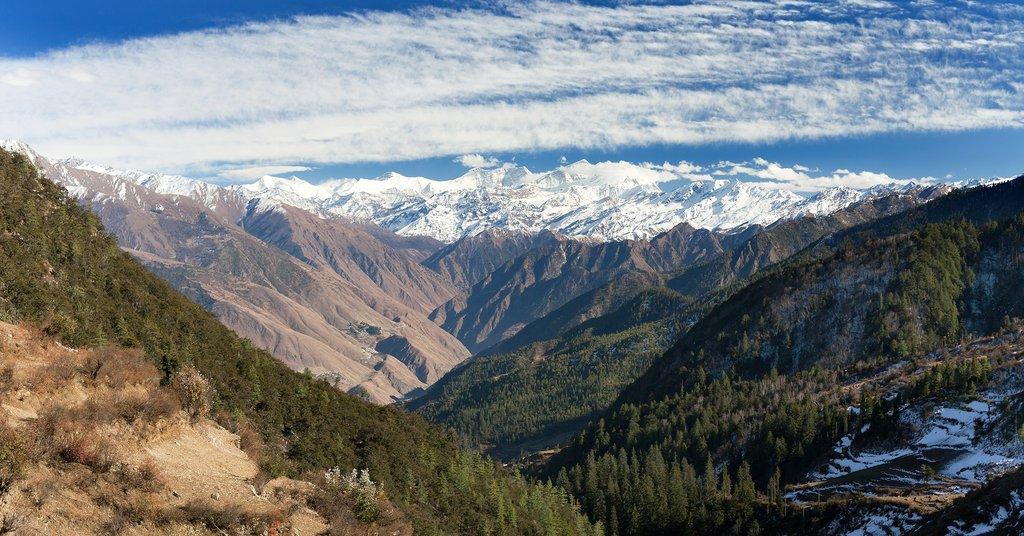 Dhaulagiri Himal above Dunai