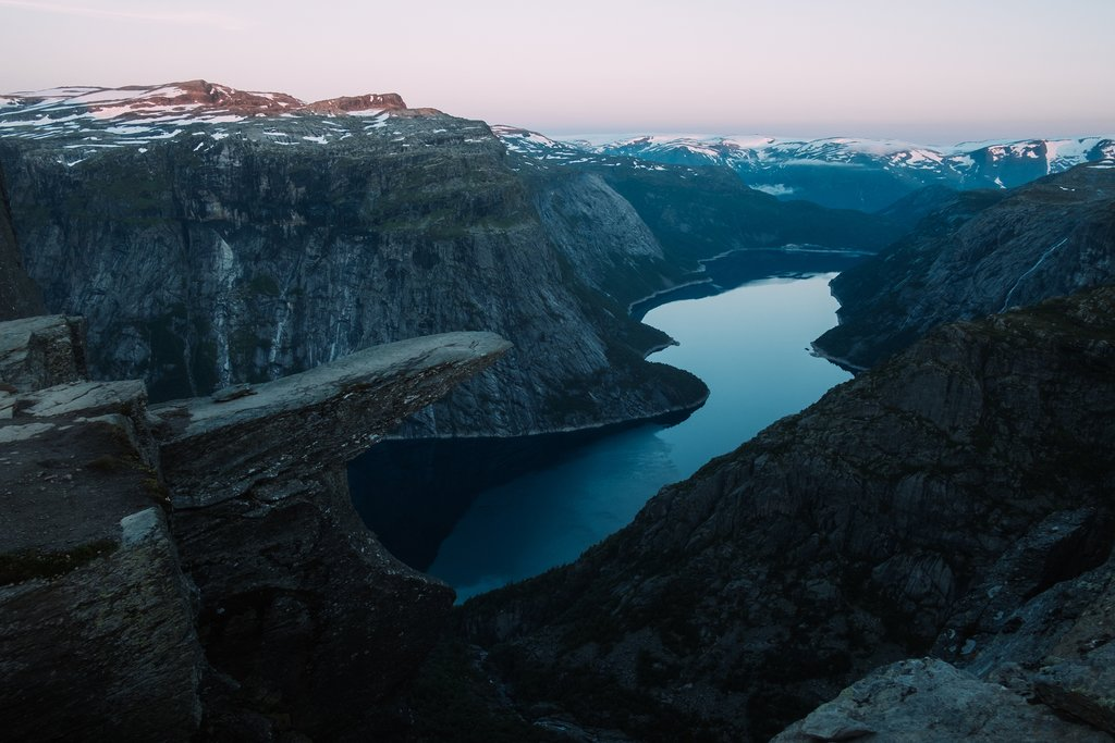 Breathtaking view of Trolltunga