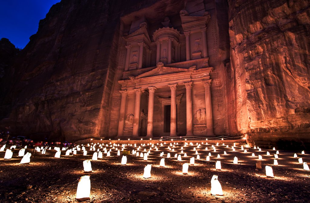 Petra by Night - The Treasury in the light of 1,800 candles
