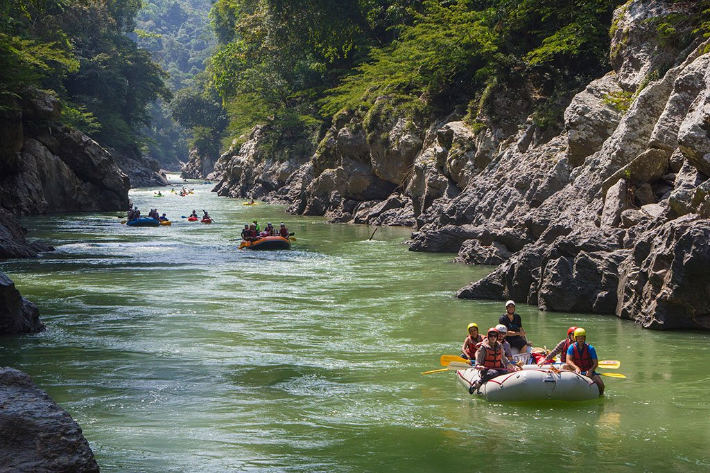 Rafting on the Samana River