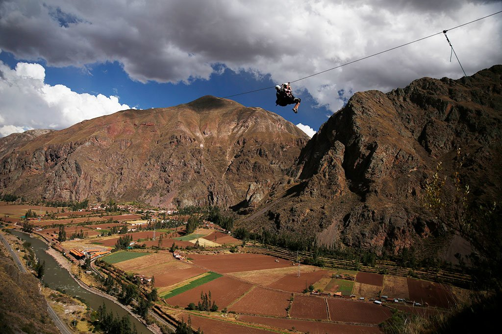 zip line in sacred valley