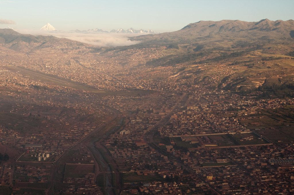 Flying into Cusco