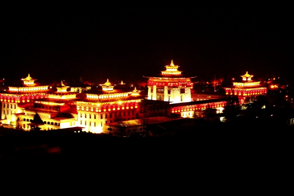 Thimpu at night