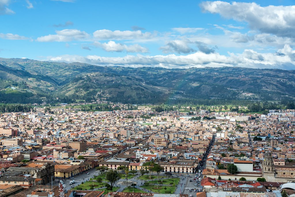 View of Cajamarca, founded by the Incas in the 15th century.