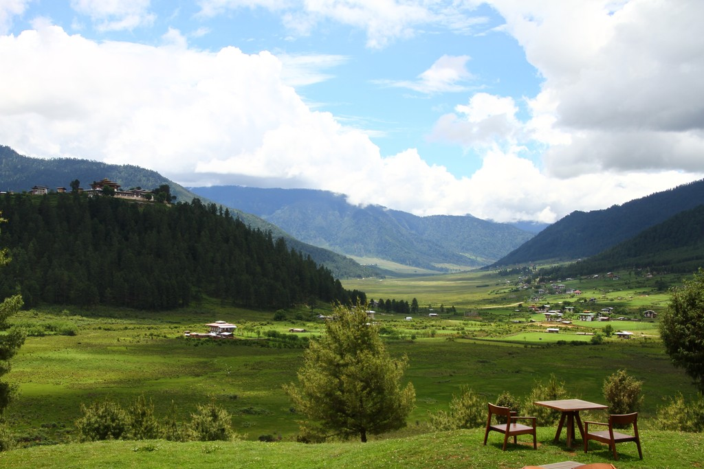 Peaceful green valleys of Bhutan
