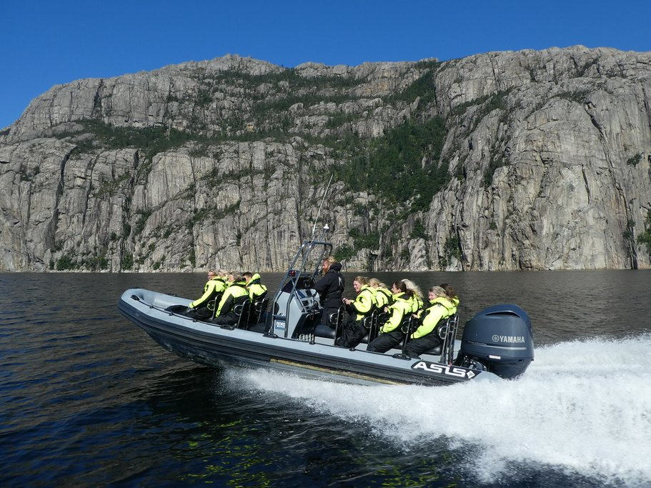 Thrilling ride through Lysefjord