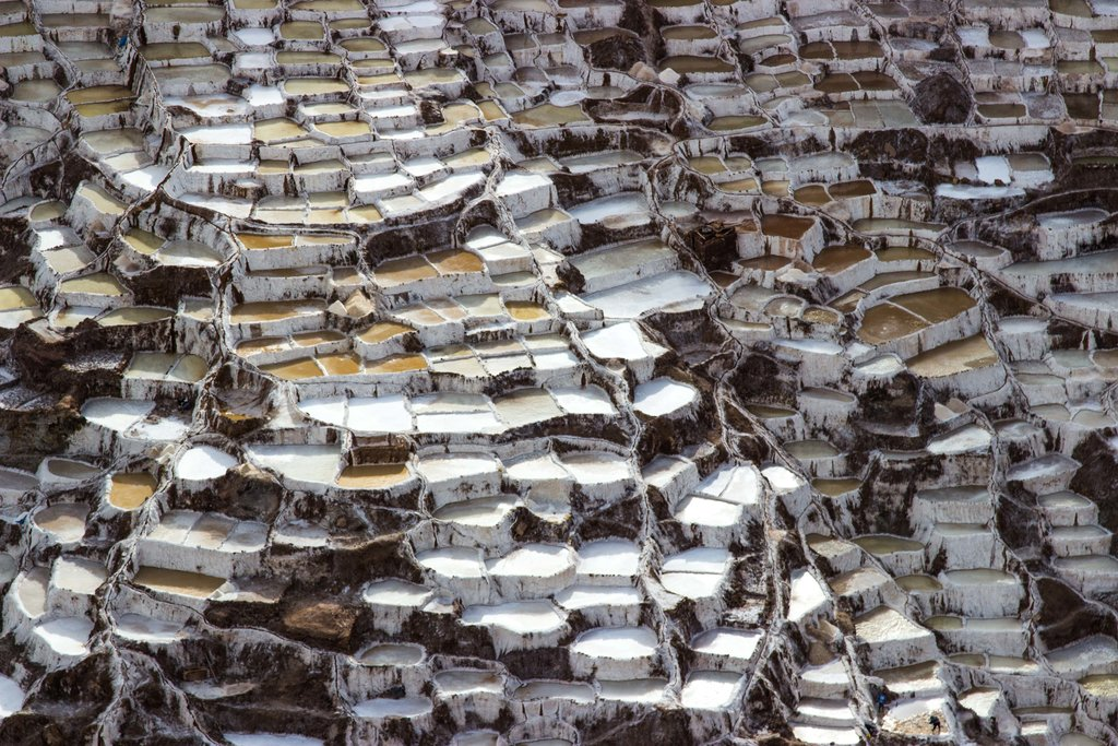 The salt pans of Maras produce salt using Inca technology © Kiki Deere