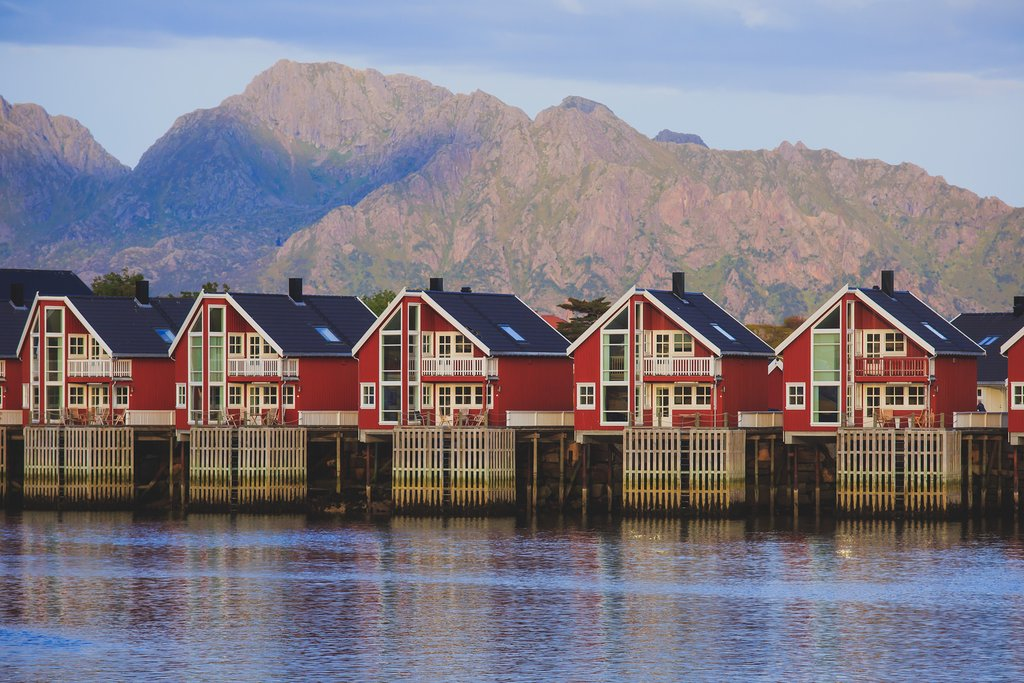 Classic wooden architecture of Northern Norway.
