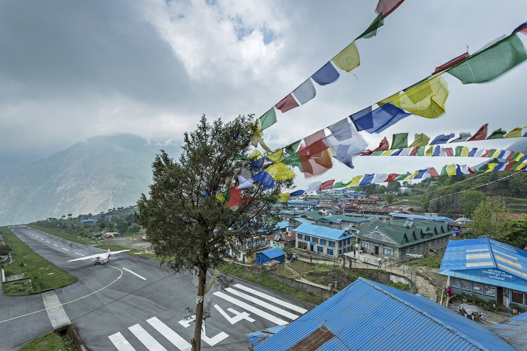 Prayer flags in Lukla