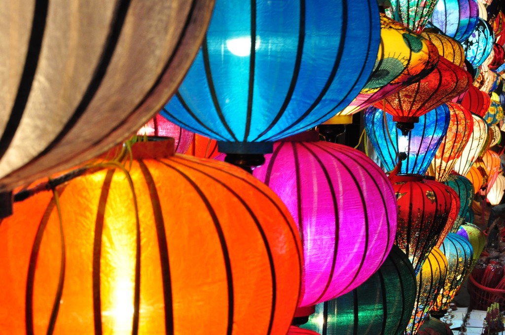 Colorful lanterns for sale in Hoi An