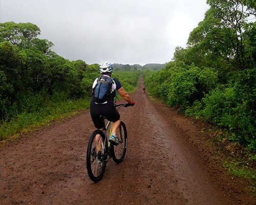 The Galapagos journey begins with an exhilarating bike ride on San Cristobal.