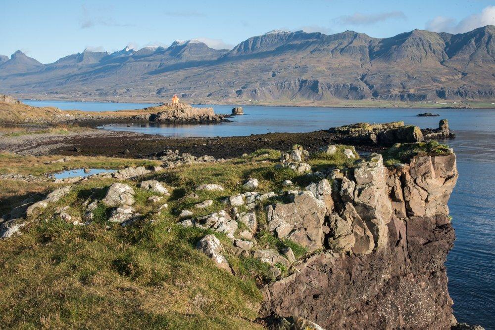 Djúpivogur lighthouse along the shore(photo by Chris McCarty)