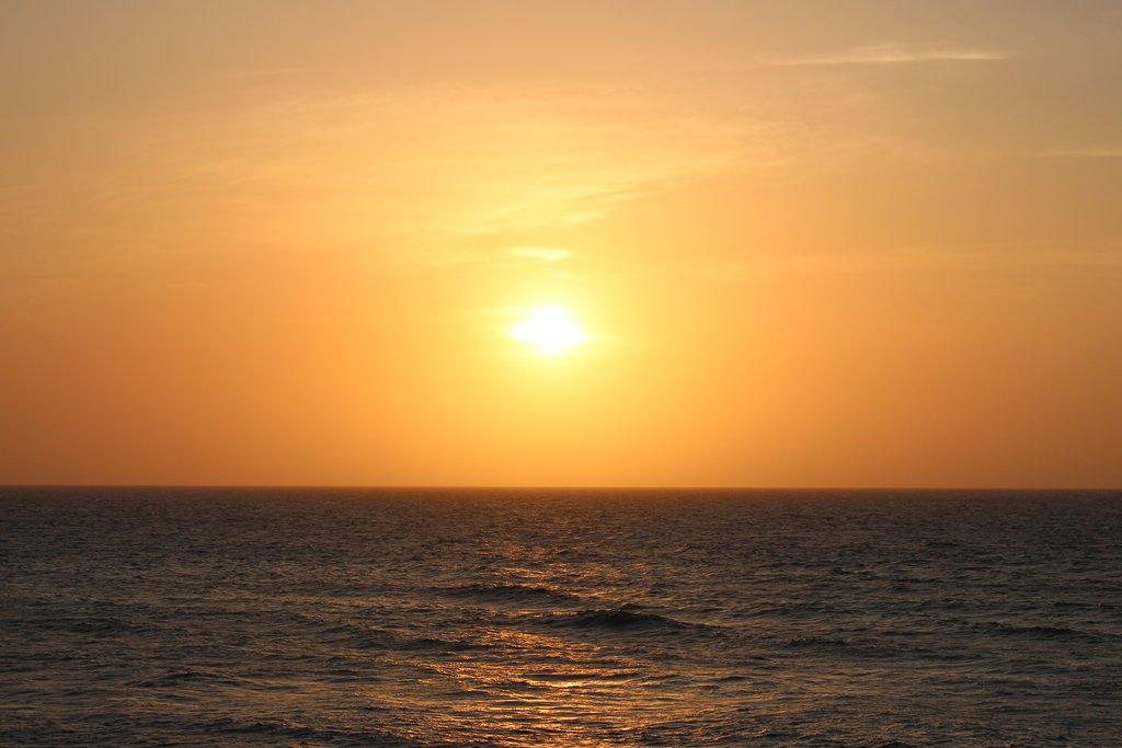 Sunset over Santa Marta.