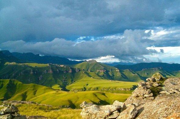The vast, unusual landscape of Drakensberg