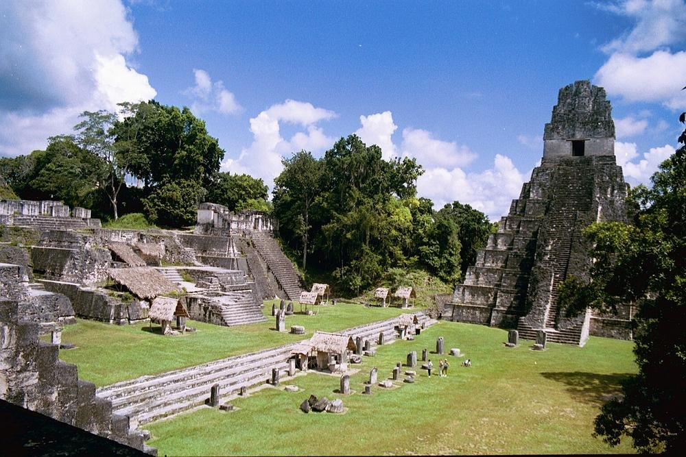 Ancient Mayan ruins at Tikal