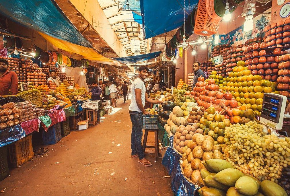 Indian fruit market