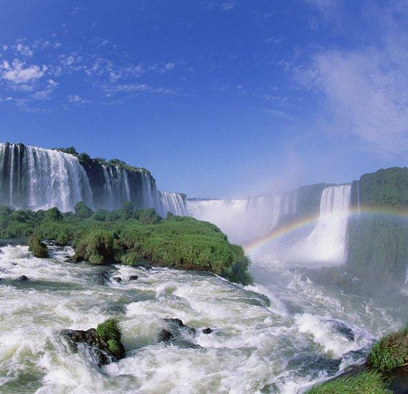 Rainbow at the Iguazu Falls