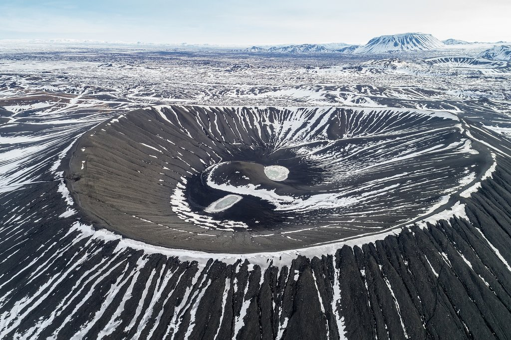 Hverfjall Crater from above