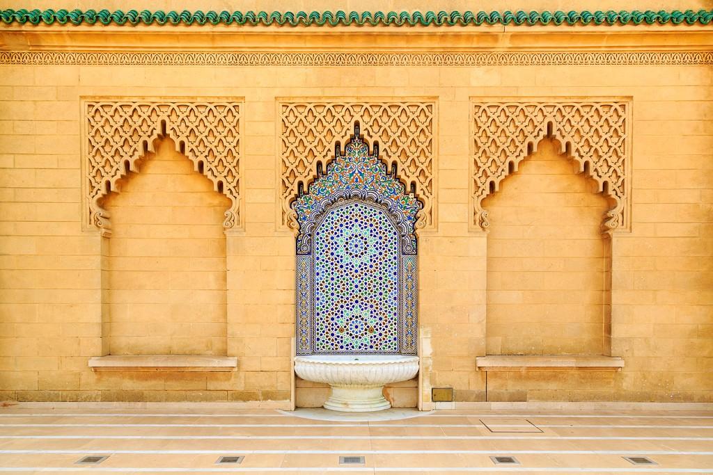 Moroccan tile fountain in Rabat