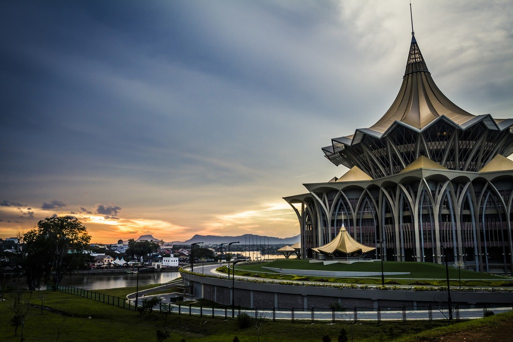 The Astana government building in Kuching