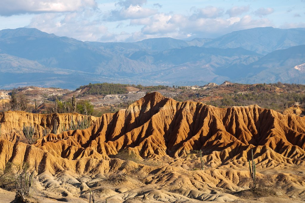 Spend some time exploring the rugged Tatacoa Desert, the Badlands of Colombia.